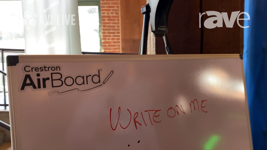 AVI LIVE: Crestron Demos AirBoard Digital Whiteboard for Education And UCC