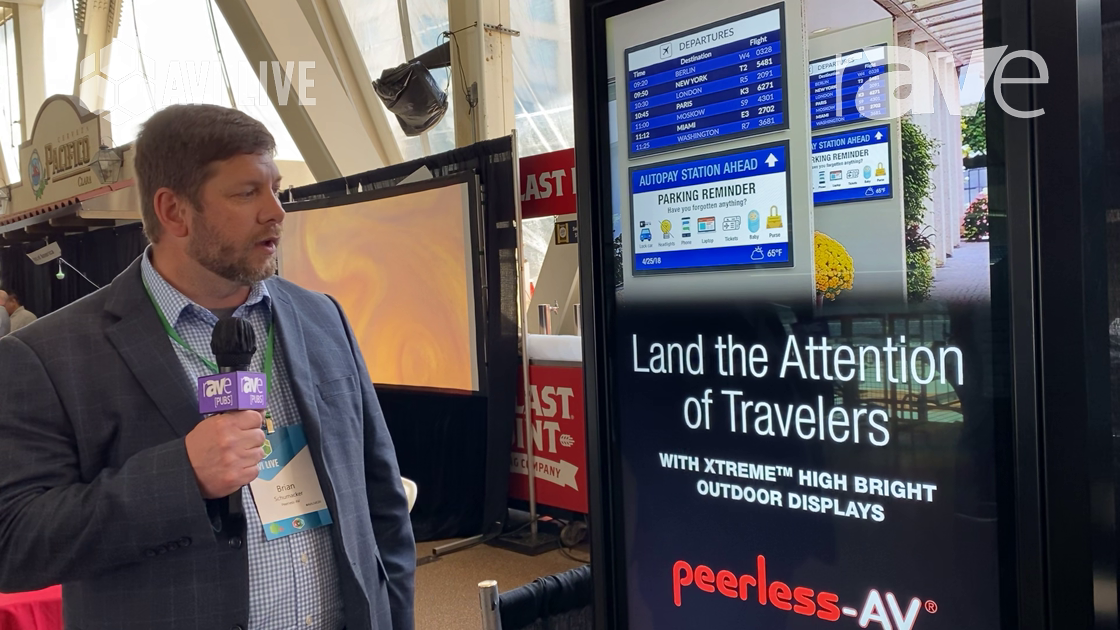 AVI LIVE: Peerless-AV Showcases Smart City Kiosk With Xtreme™ High Bright Outdoor Display