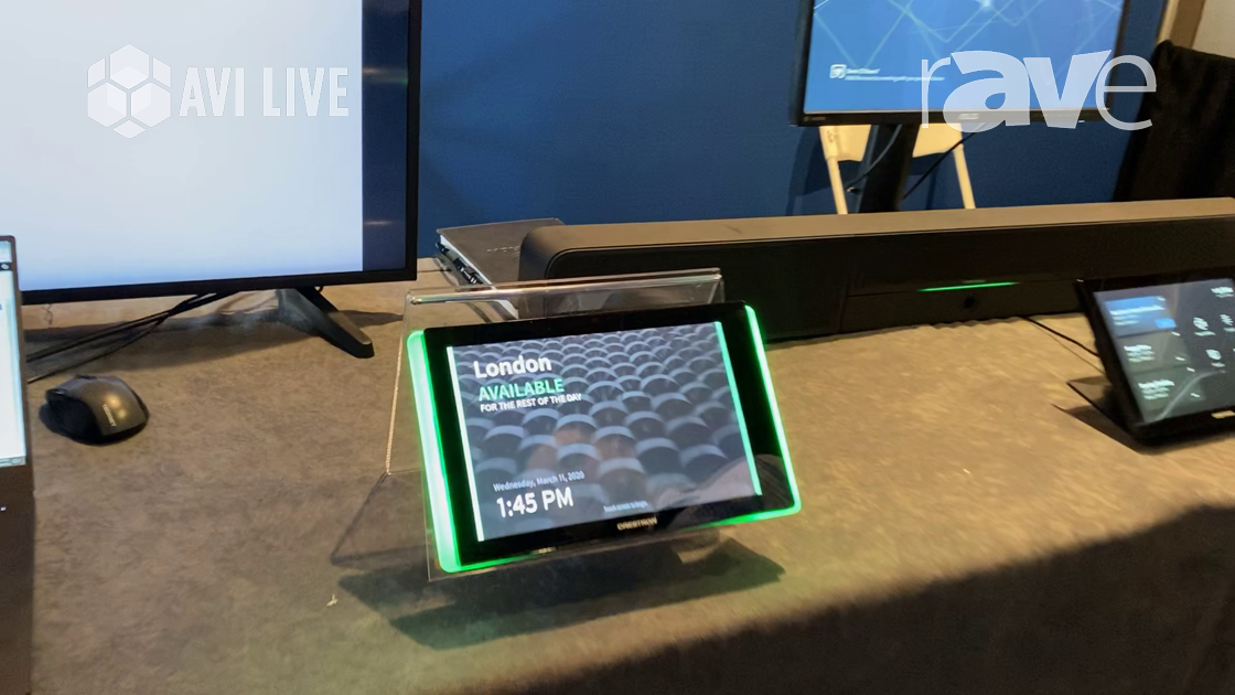 AVI LIVE: Crestron Showcases Touch Screen Room Scheduling Panel for Huddle Rooms