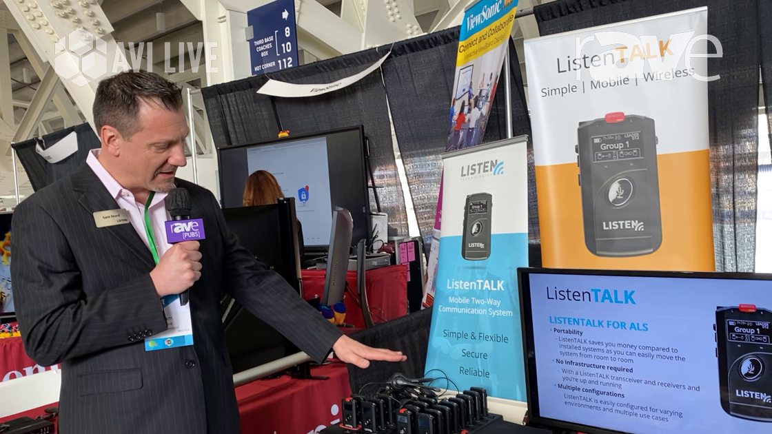 AVI LIVE: Listen Technologies Features Listen TALK Mobile Two-Way Communication System