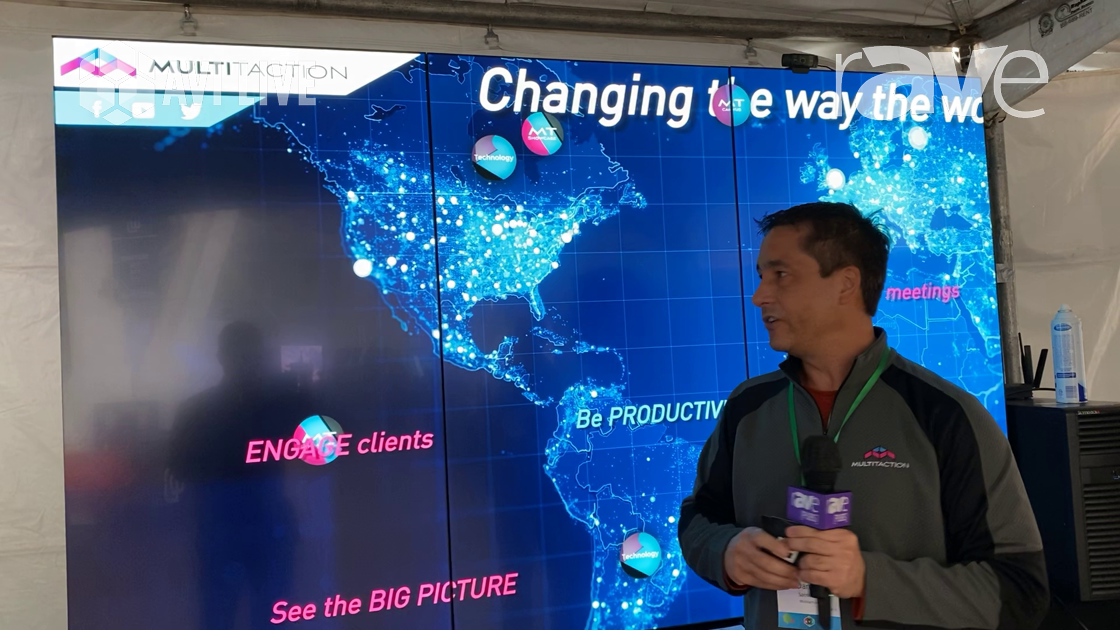 AVI LIVE: MultiTaction Demos 55-Inch Video Wall Touch Display With Rear IR Touch Technology