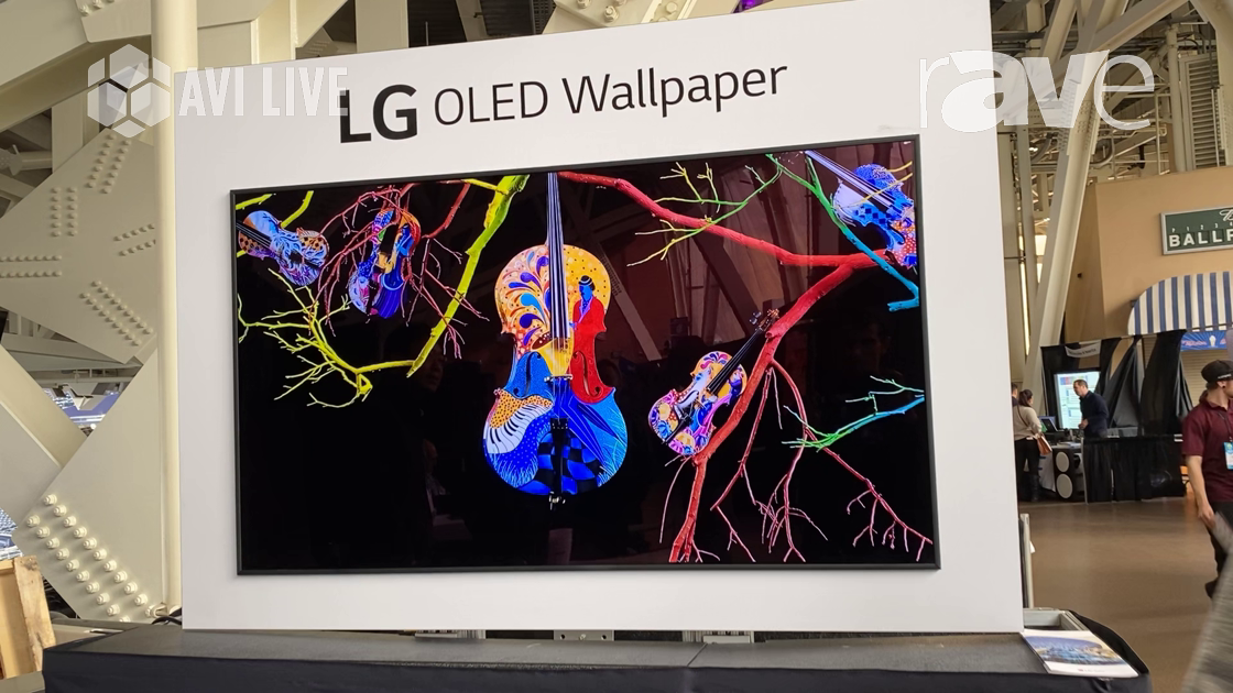 AVI LIVE: LG Features OLED 55-Inch Wallpaper Display for Digital Signage