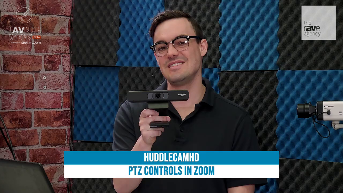 LAVNCH WEEK: HuddleCamHD Demos Far End Camera Controls With USB PTZ Cameras in Zoom