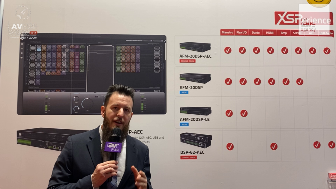 LAVNCH WEEK: Kramer Shows Full Family of Audio Matrix DSPs, Including New DSP-62-AEC for Huddle Room
