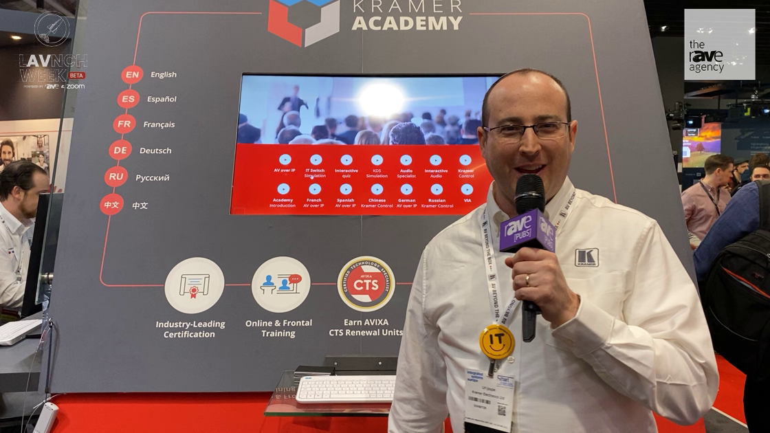 LAVNCH WEEK: Kramer's Kramer Academy Offers End to End Knowledge Solutions for AV/IT Industries