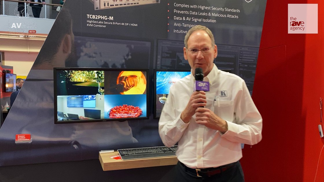 LAVNCH WEEK: Kramer's TC82PHG-M Is a High Security 8–Port 4K30 KVM Combiner for Government/Military