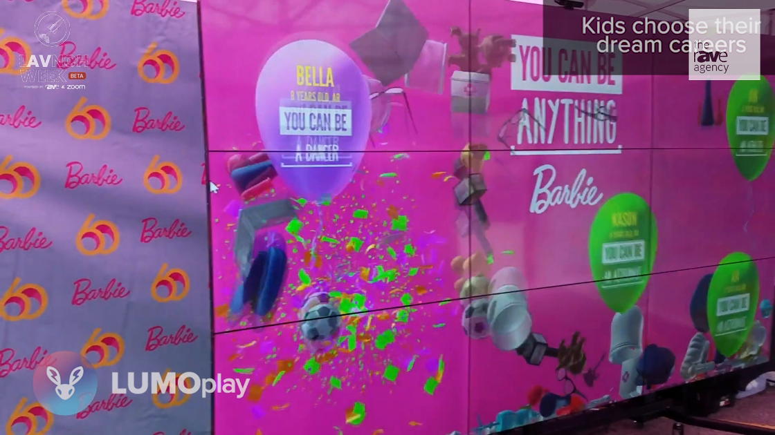 LAVNCH WEEK: Lumo Showcases LUMOplay in Barbie Dream Wall Case Study