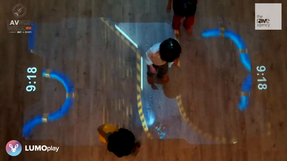 LAVNCH WEEK: Lumo Showcases Maze Escape Game with its LUMOplay Interactive Floor Game System