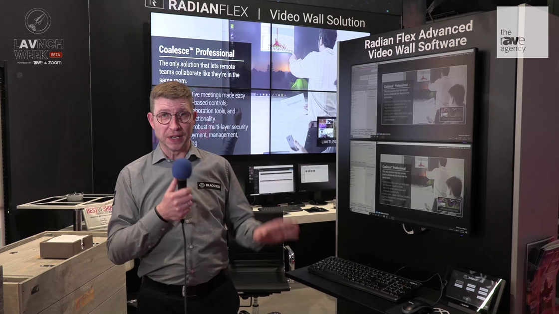 LAVNCH WEEK: Black Box Demos Radian Flex Solution That Can Control a Video Wall on a 1G Network