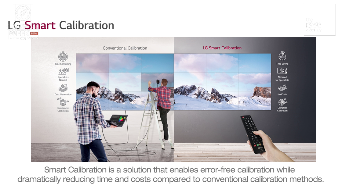 LAVNCH WEEK: LG Shows Off How Smart Calibration Works for Its Video Wall Displays