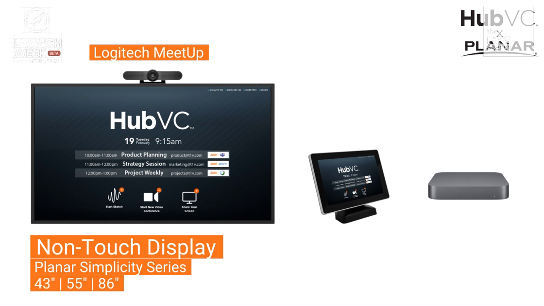 LAVNCH WEEK: T1V Shows HubVC x Planar Non-Touch Solution for Collaboration