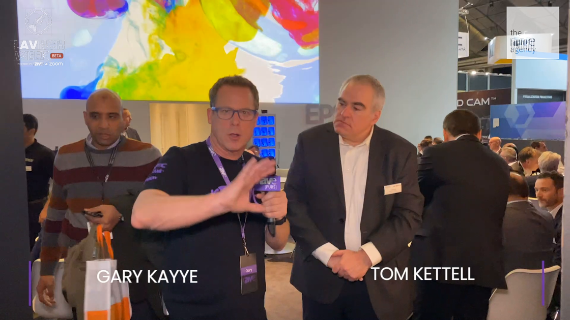 LAVNCH WEEK: Epson Director of Sales, Tom Kettell, Gives rAVe an ISE Booth Tour