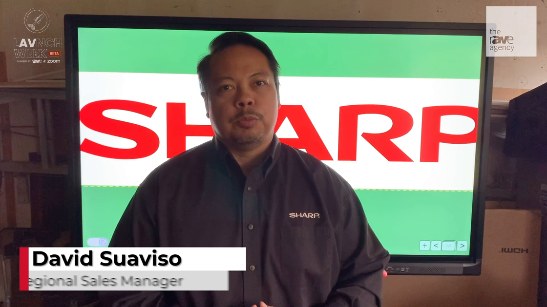 LAVNCH WEEK: Sharp Talks Additions to Sharp AQUOS Board Lineup – 4K, RoomScale, IoT Sensor Hub
