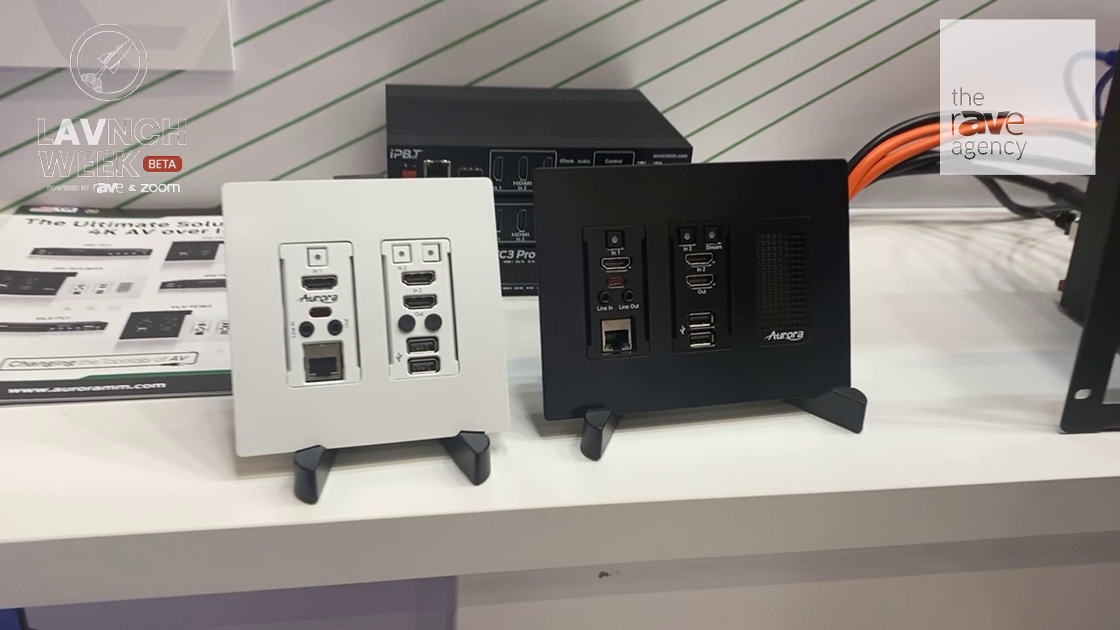 LAVNCH WEEK: Aurora Multimedia Introduces SDVoE IPX-TC3-WP2 and WP3 Wall Plates