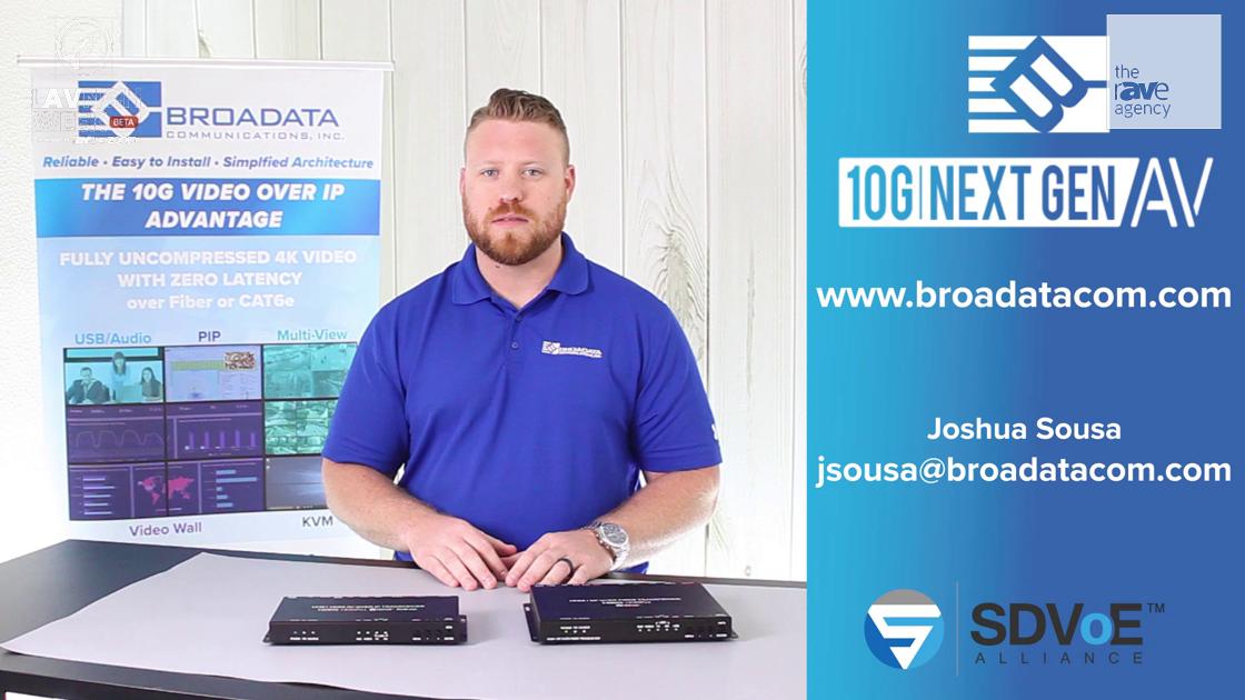 LAVNCH WEEK: Broadata Communications Reveals the LBN-10GTRO 10G AV-Over-IP IP Copper or Fiber