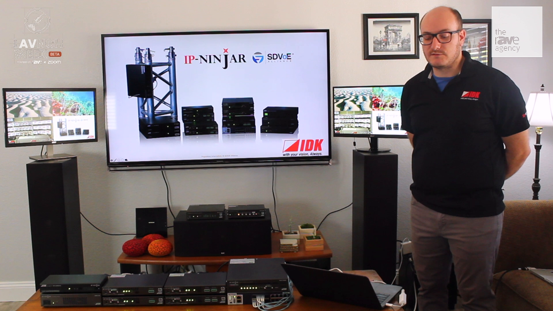 LAVNCH WEEK: IDK Corporation Features Its IP NINJAR 10G AV-Over-IP Solution