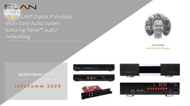 InfoComm 2020: ELAN Highlights New ELAN Audio Over IP Amplifiers