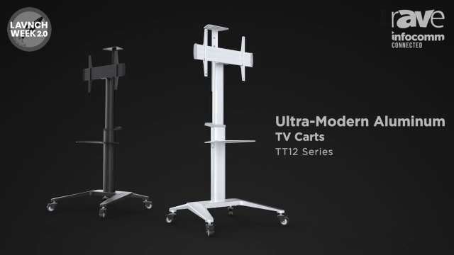 InfoComm 2020: Lumi Legend Highlights Aluminum TV Carts TT12 Series