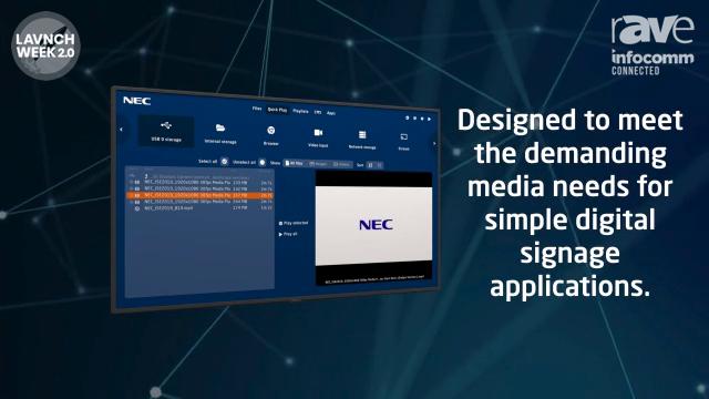 InfoComm 2020: NEC Display Showcases Media Player Powered by Raspberry Pi