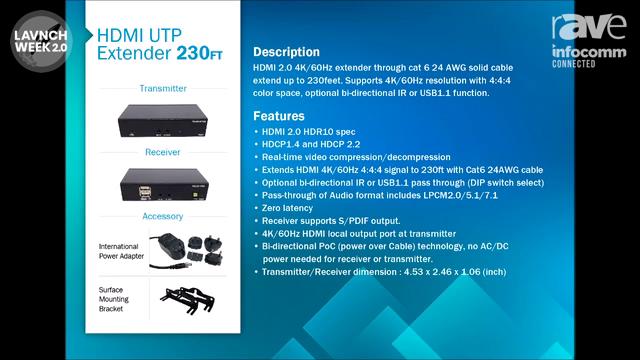 InfoComm 2020: Tri-Net Technology Introduces R016 POC U3 K HDMI Extender Kit