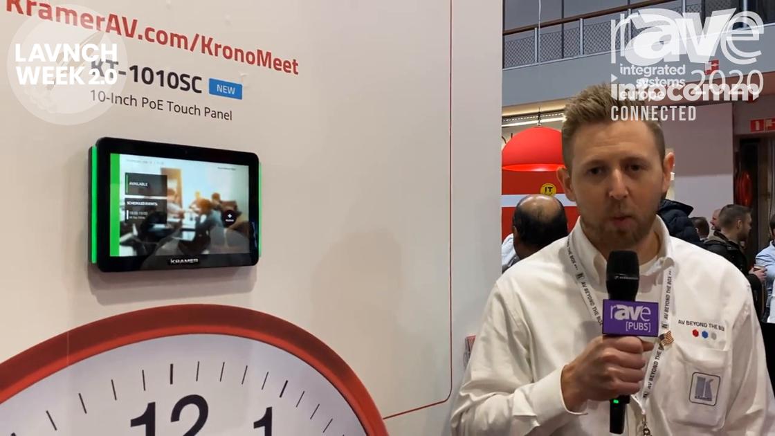 InfoComm 2020: Kramer Introduces KronoMeet Enterprise Room Management and Scheduling System