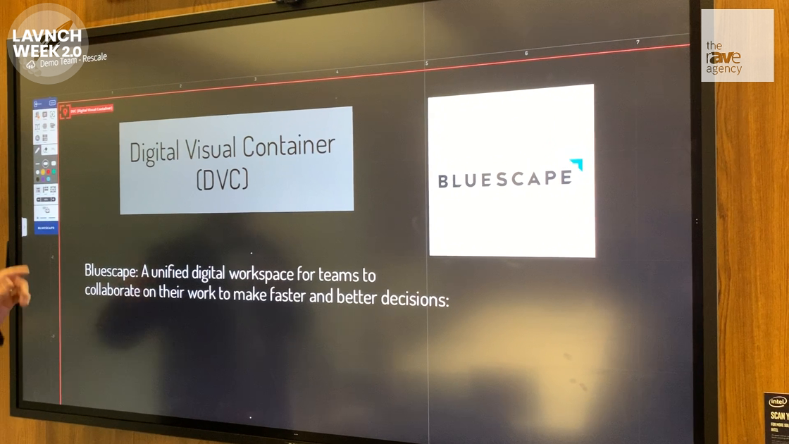 LAVNCH WEEK: Bluescape Demos Digital Visual Container Unified Workspace for Teams to Collaborate