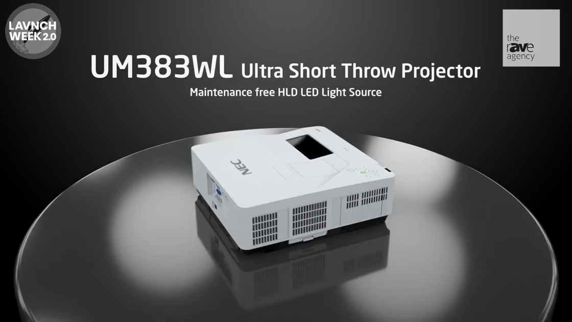 LAVNCH WEEK: NEC Display – UM383WL Ultra Short Throw HLD LED Projector