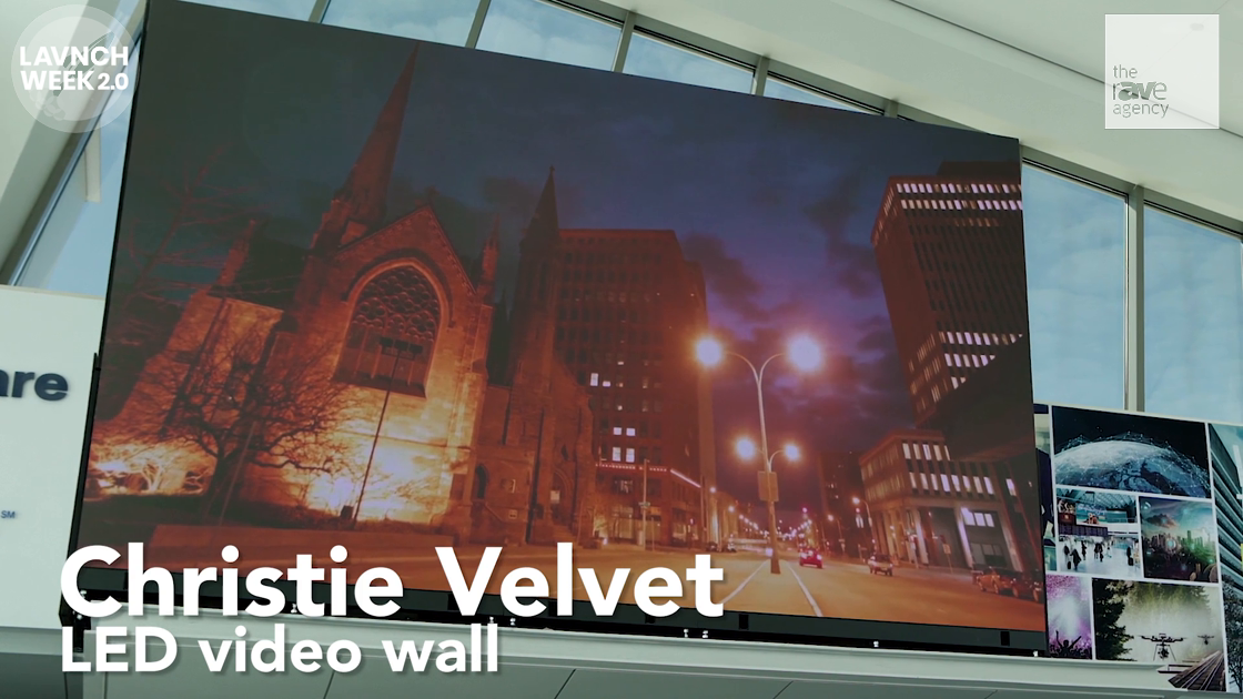 LAVNCH WEEK: Christie Velvet LED Video Wall and LCD Panels at Buffalo International Airport
