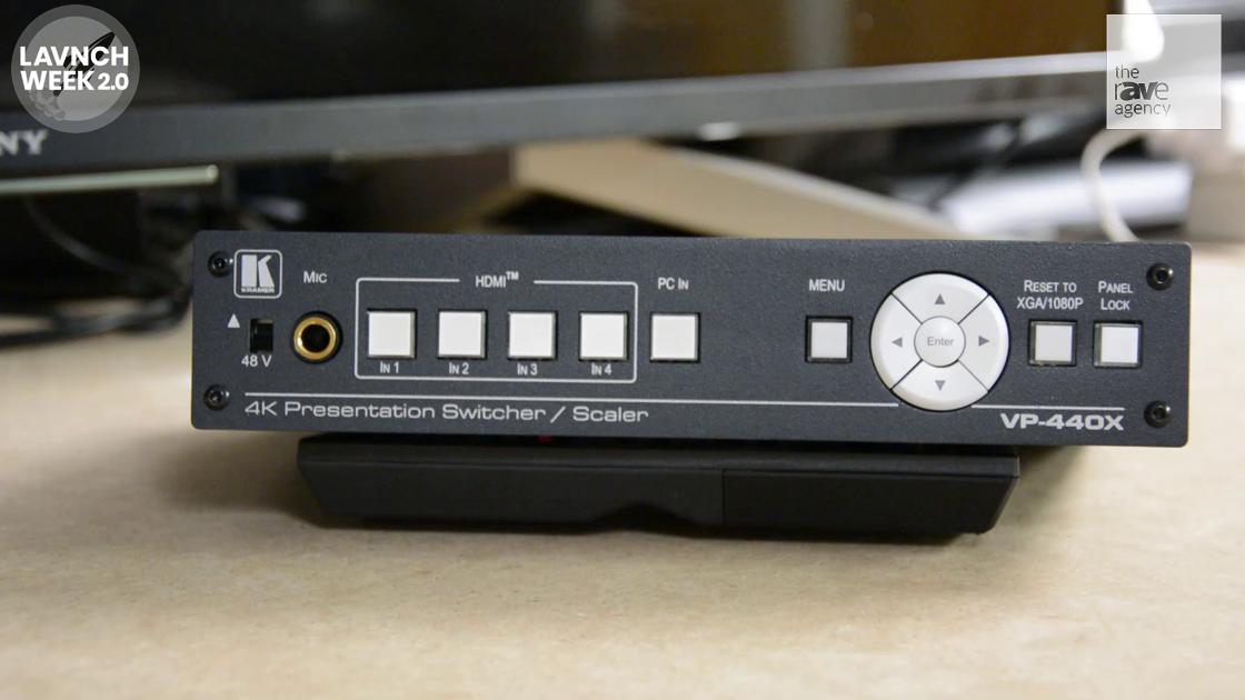 LAVNCH WEEK: Kramer 4K Presentation Switcher/Scaler VP-440X