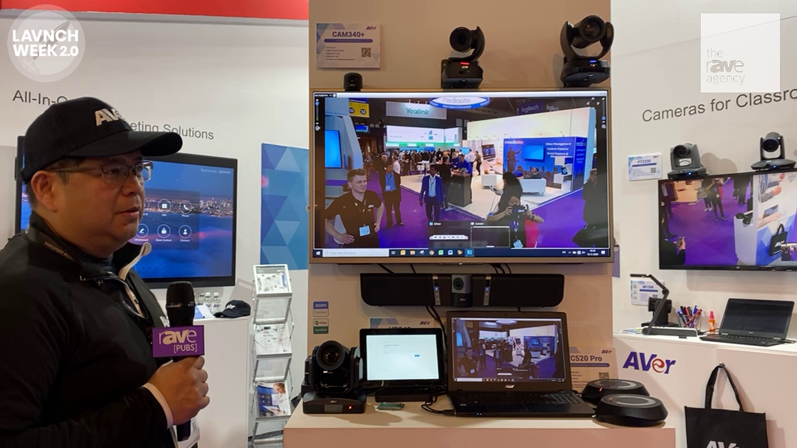 LAVNCH WEEK: AVer Shows Solutions for Collaboration Room, EP65 All-in-One Flat Panel with Zoom Rooms