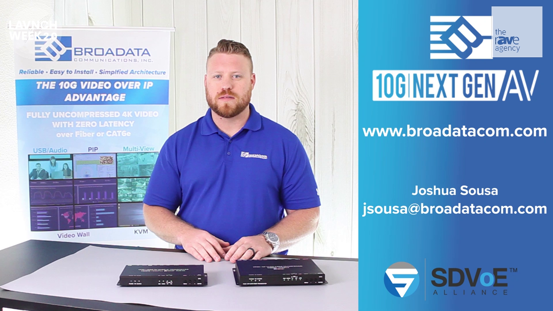 LAVNCH WEEK: Broadata Communications Reveals the LBN-10GTRO 10G AV-Over-IP IP Copper or Fiber