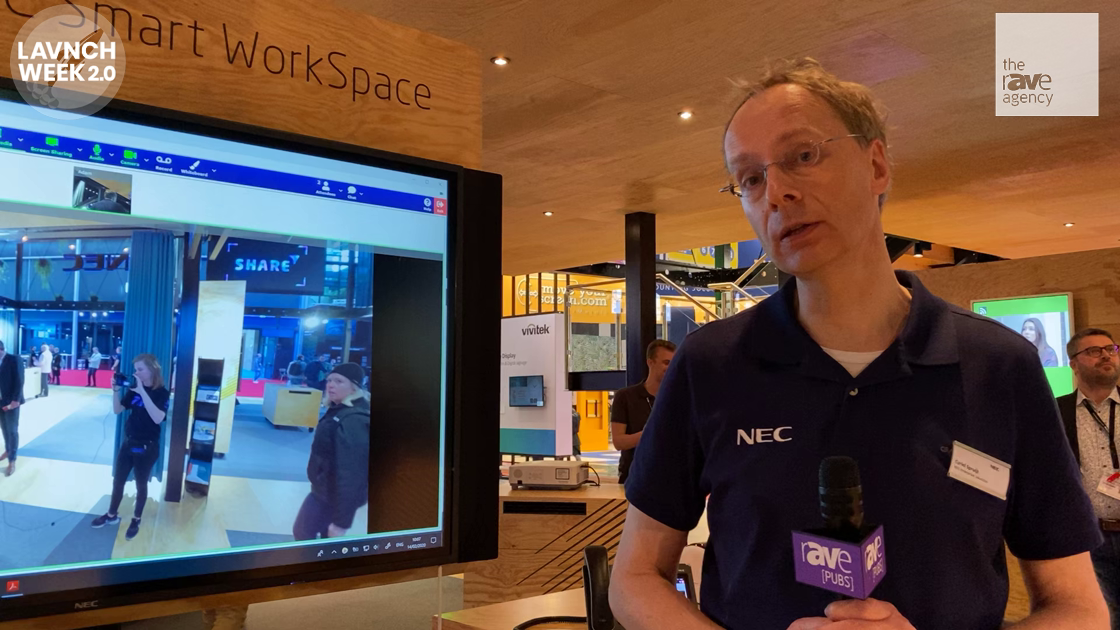 LAVNCH WEEK: NEC Display Demos Smart WorkSpace With NEC Meeting Center, NEC InfinityBoard
