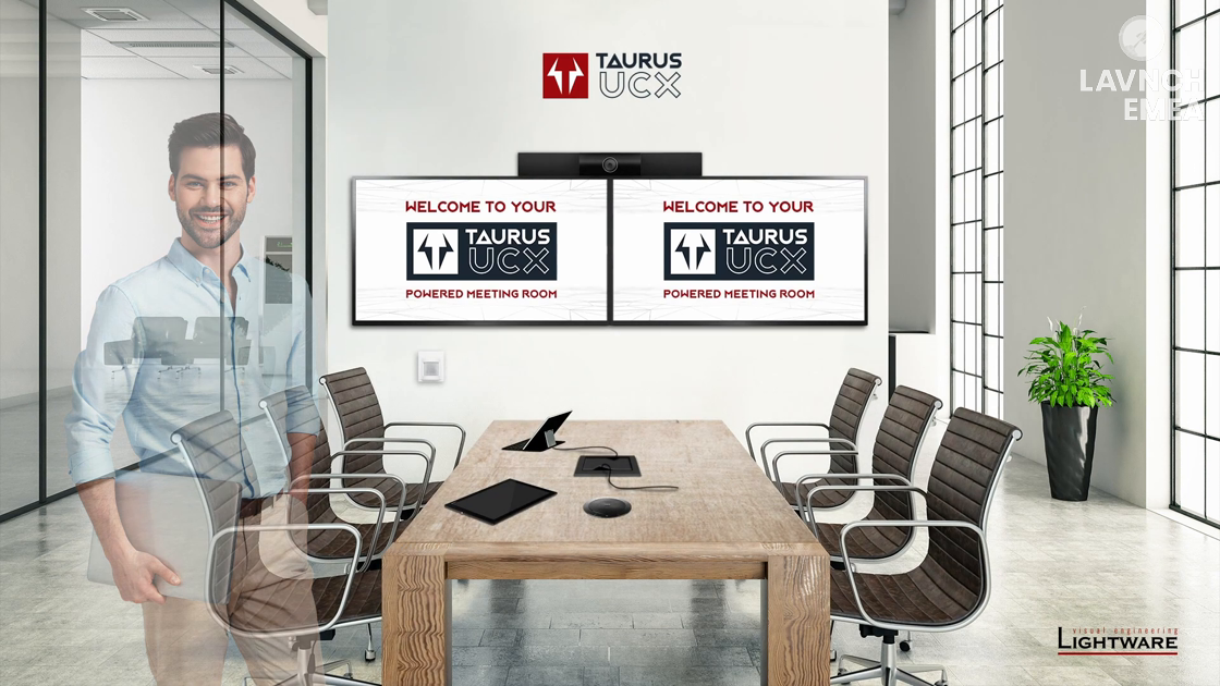 LAVNCH EMEA: Lightware Introduces Taurus UCX – Connectivity for Today's Meeting Rooms