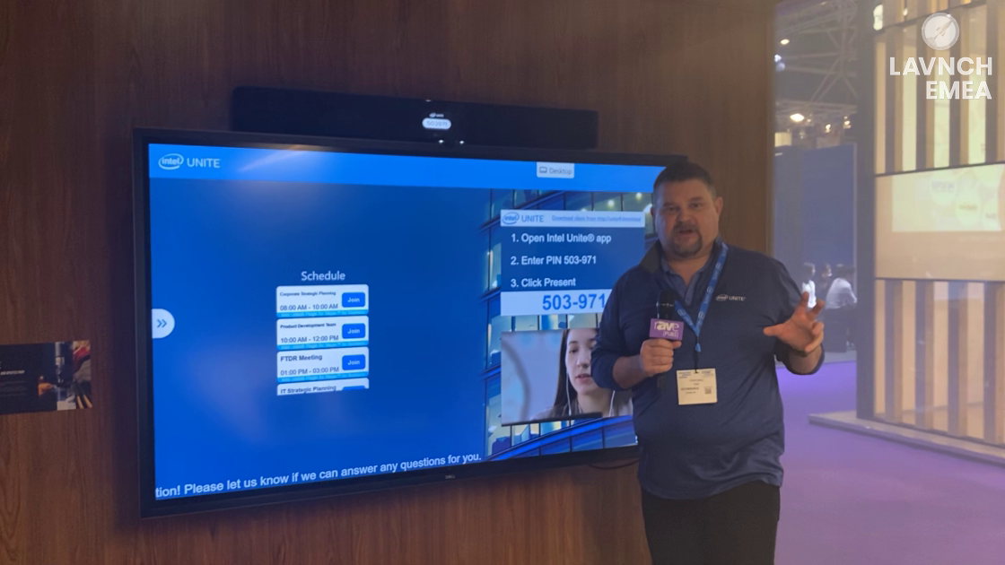 LAVNCH EMEA: Intel Unite Demos the Conference Room of the Future, Features Jabra and Nureva