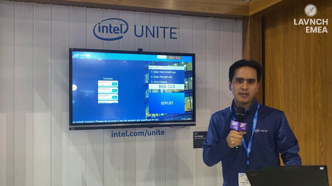 LAVNCH EMEA: Intel Unite Demos Collaboration for Next Generation Huddle Spaces in Spanish