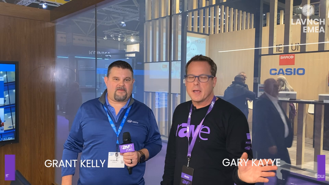 LAVNCH EMEA: Gary Kayye Takes the Perfect Intel Unite Stand Tour with Grant Kelly