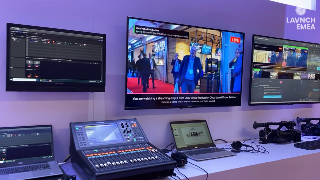 LAVNCH EMEA: Sony Showcases the Virtual Production Cloud-Based Virtual Switcher