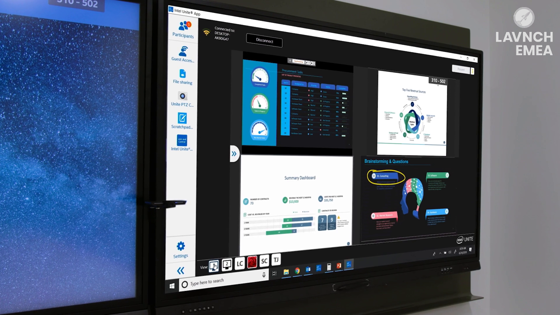 LAVNCH EMEA: Intel Unite – Collaborate from Anywhere – Without Wires or Delays