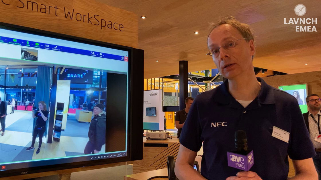 LAVNCH EMEA: NEC Display Demos Smart WorkSpace With NEC Meeting Center, NEC InfinityBoard