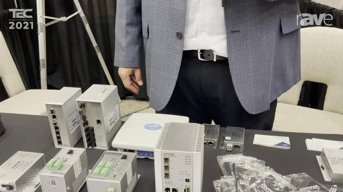 TEC 2021: Comnet Shows CNGE11FX3TX8MS Eleven Port Hardened Managed Ethernet Switch