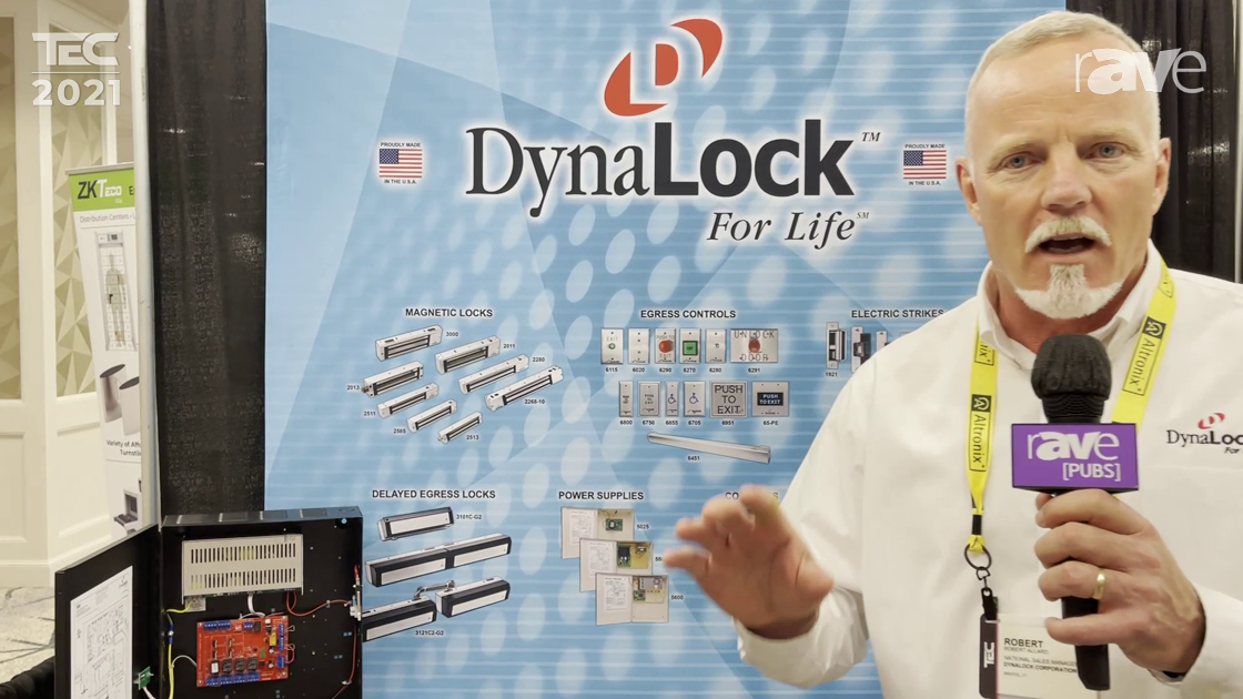TEC 2021: DynaLock Showcases 3103C Delayed Egress MagLock System with Versatile Software Integration