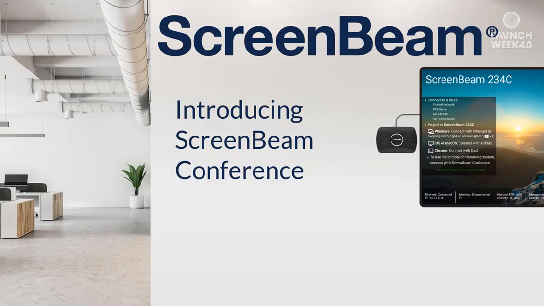 LAVNCH WEEK 4.0: ScreenBeam Conference Demo
