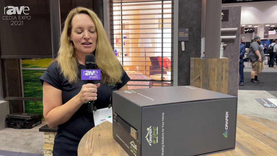 CEDIA Expo 2021: Draper Launches New Draper@Home Residential Shade Line with Draper@Home Fabric Kit