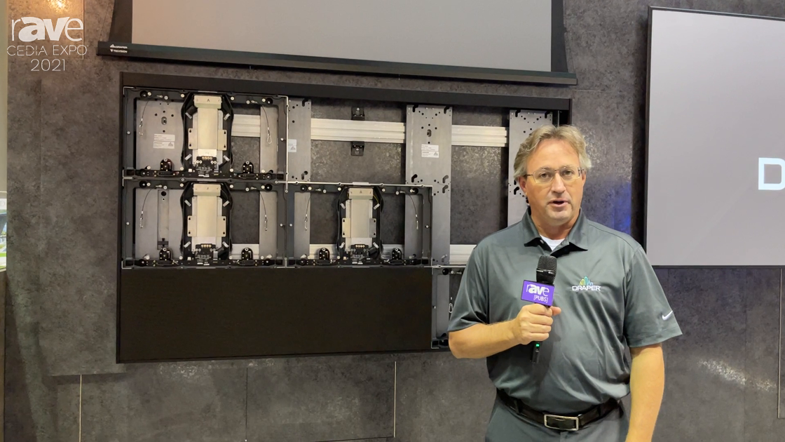 CEDIA Expo 2021: Draper Highlights Foundation Mount System for dvLED Video Wall Installations