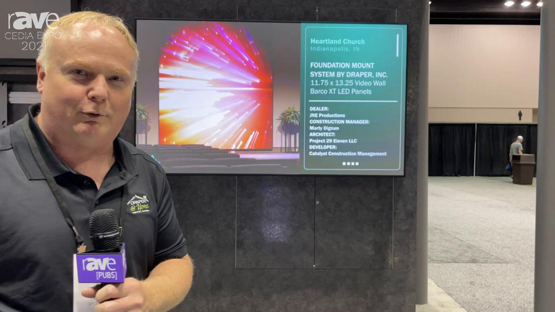 CEDIA Expo 2021: Draper Shows Profile+ Fixed Projection Screen, a Fixed Frame Screen