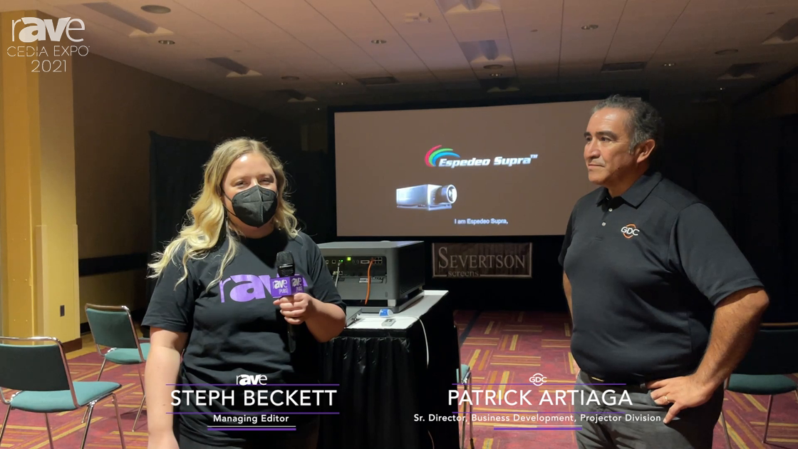 CEDIA Expo 2021: Steph Beckett and Patrick Artiaga Show Espedeo Projector as GDC Enters Resi Market
