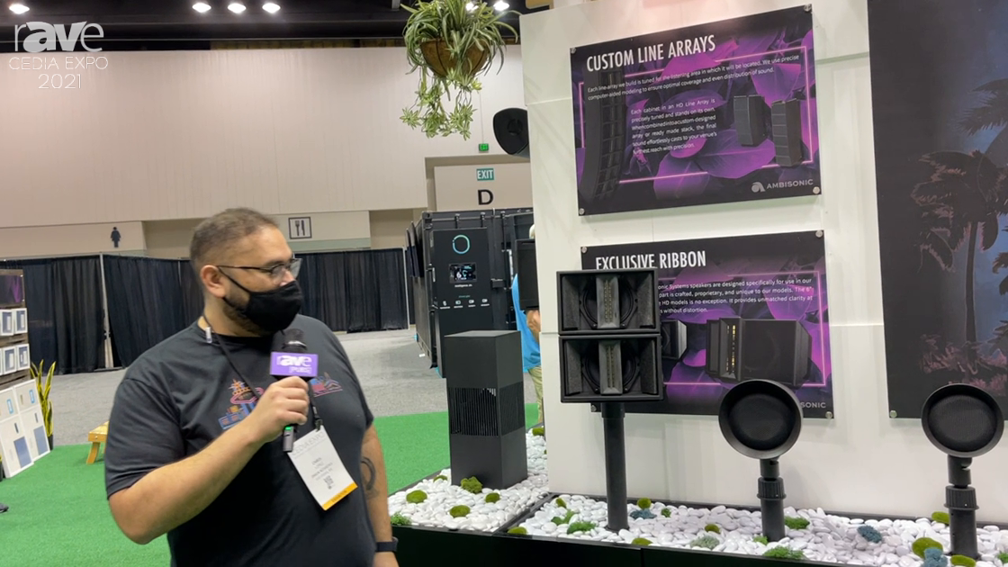 CEDIA Expo 2021: Ambisonic Showcases Satellite Speakers for Outdoor and Landscaping Audio