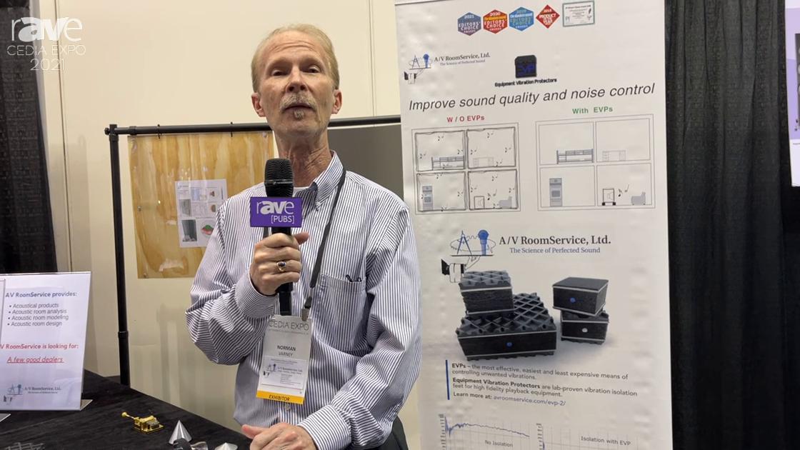 CEDIA Expo 2021: AV Room Service Demos EVP Equipment Vibration Protectors for Unwanted Vibrations