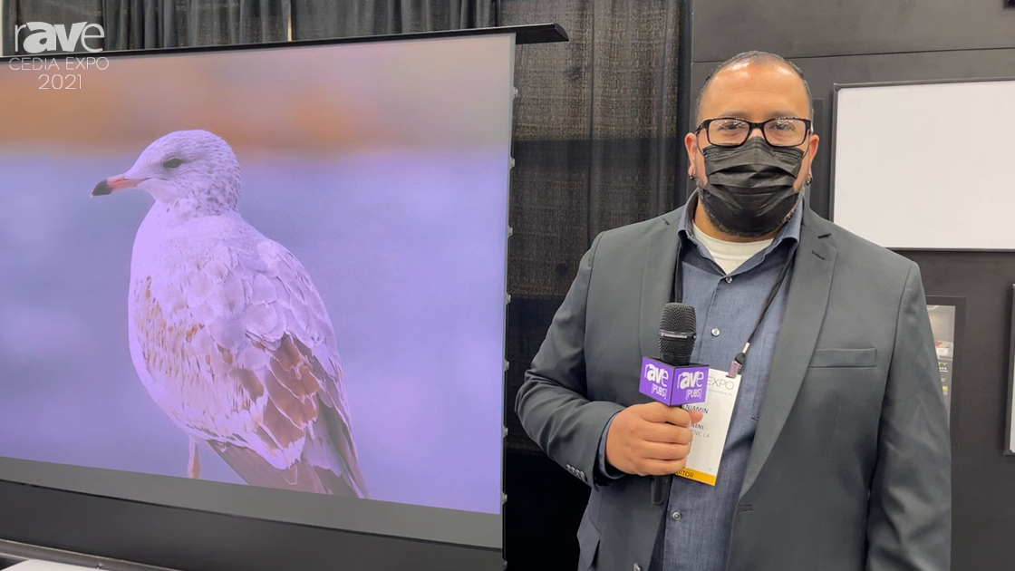CEDIA Expo 2021: EPV Screens Features DarkStar Max UST-FR Ceiling and Ambient-light-rejecting Screen