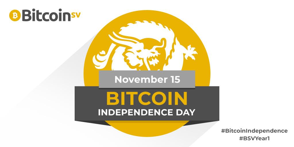 Bitcoin Independence Day, 15th November 2019: Bitcoin SV: the fastest growing blockchain, ever